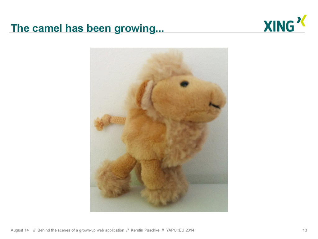 The camel has been growing... August 14 // Behi...