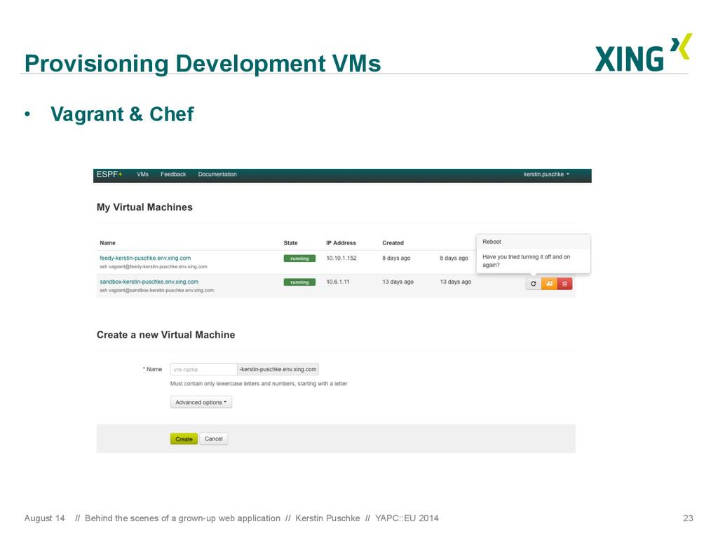 Provisioning Development VMs August 14 // Behin...