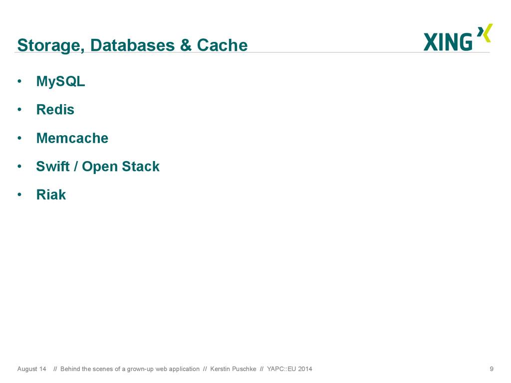 Storage, Databases & Cache • MySQL • Redis •...