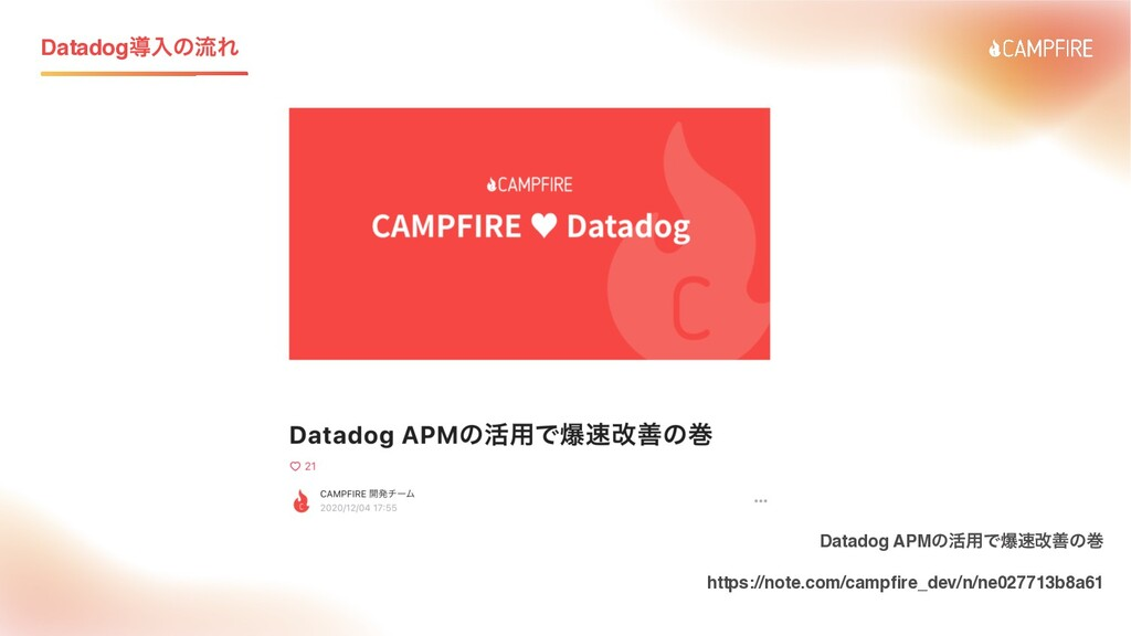 DatadogಋೖͷྲྀΕ Datadog APMͷ׆༻Ͱരվળͷר https://note...