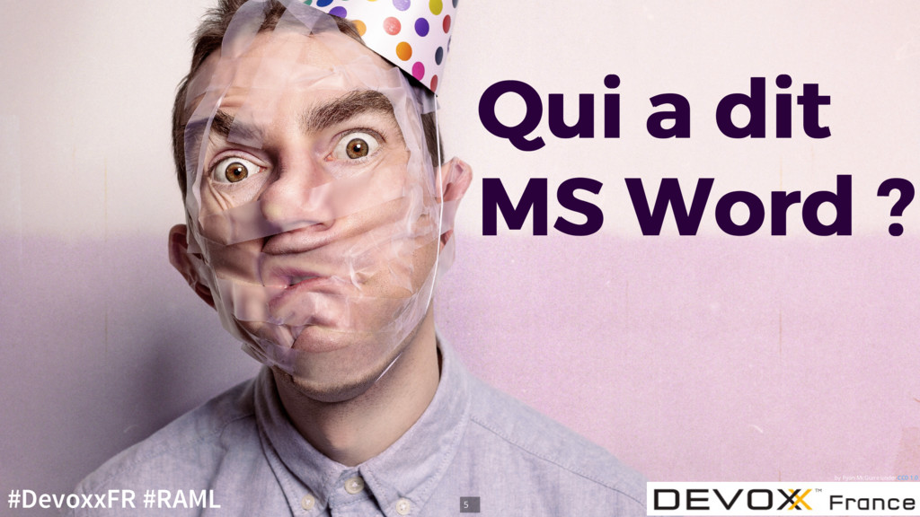 Qui a dit Qui a dit MS Word ? MS Word ? by Ryan...