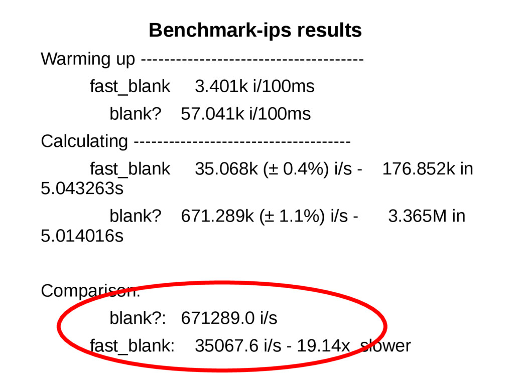 Benchmark-ips results Warming up --------------...