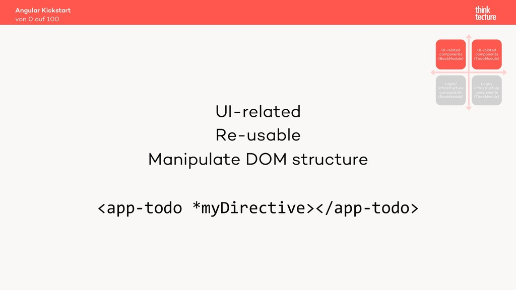 UI-related Re-usable Manipulate DOM structure <...
