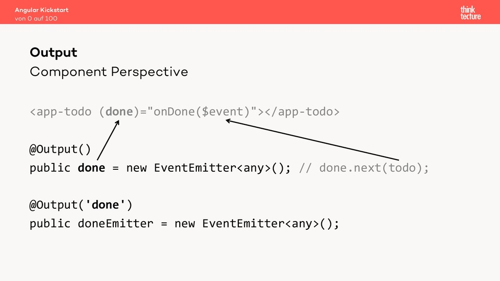 "Component Perspective <app-todo (done)=""onDone(..."