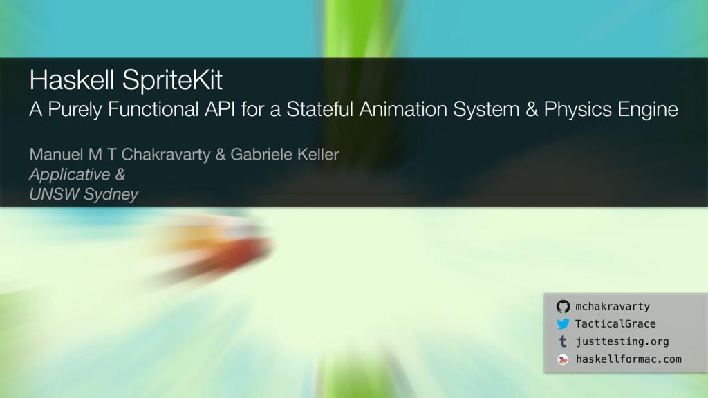 Manuel M T Chakravarty & Gabriele Keller  Appli...