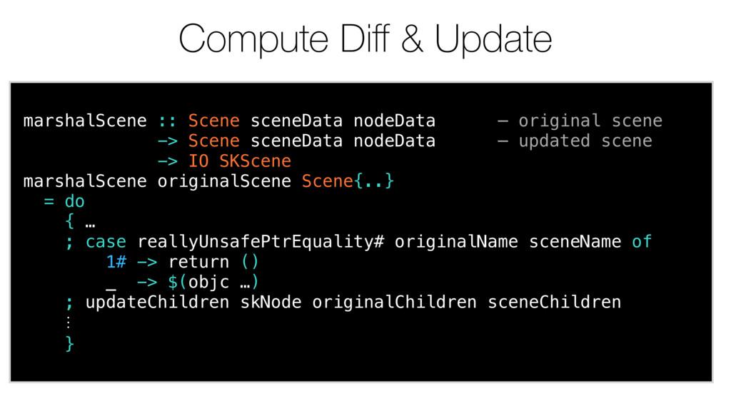 Compute Diff & Update marshalScene :: Scene scen...