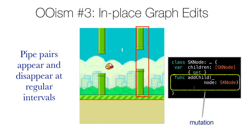 OOism #3: In-place Graph Edits Pipe pairs appea...