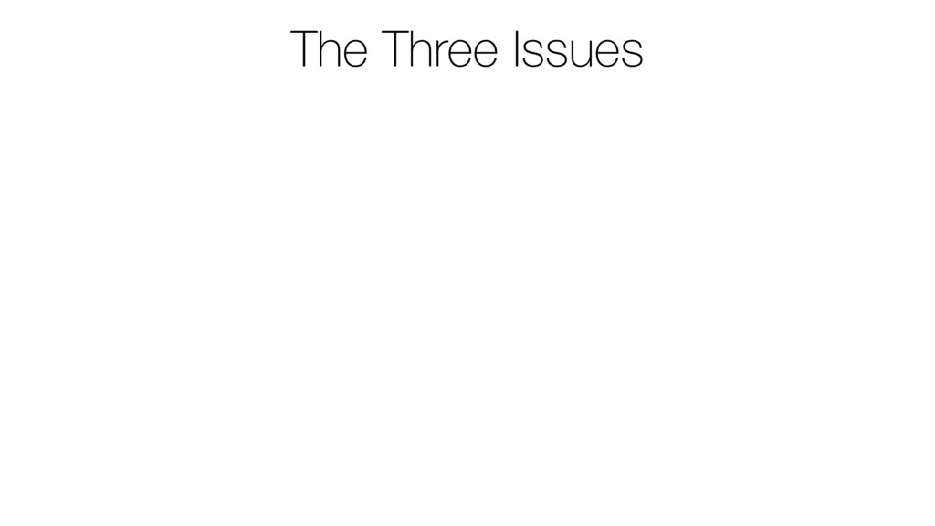 The Three Issues