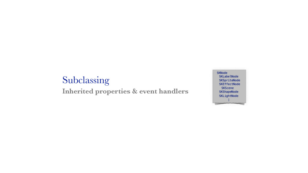 Subclassing Inherited properties & event handle...