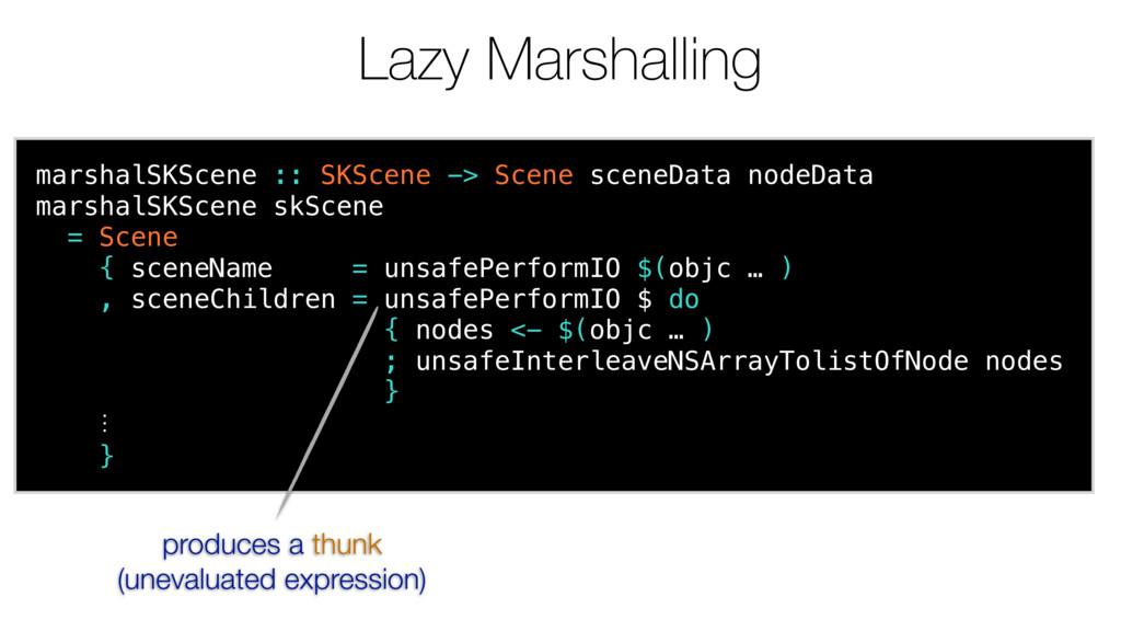 Lazy Marshalling marshalSKScene :: SKScene -> S...