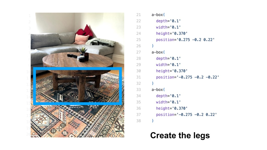 Create the legs