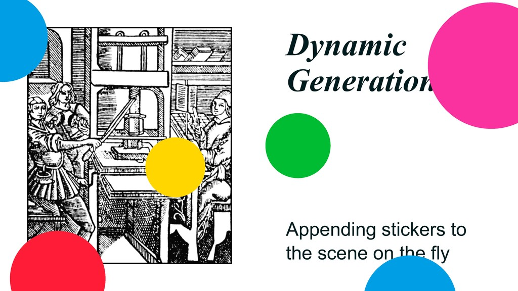 Dynamic Generation Appending stickers to the sc...