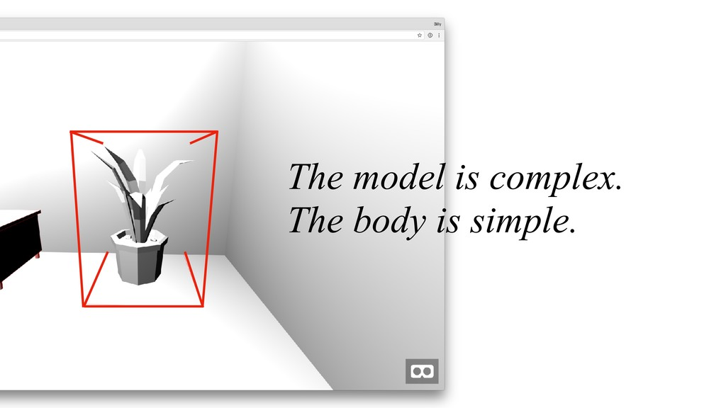 The model is complex. The body is simple.
