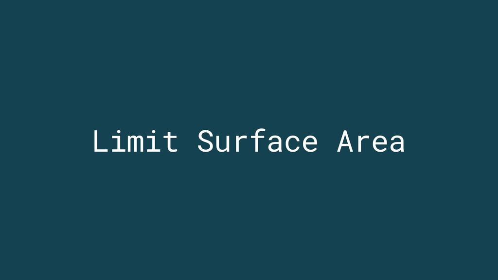 Limit Surface Area