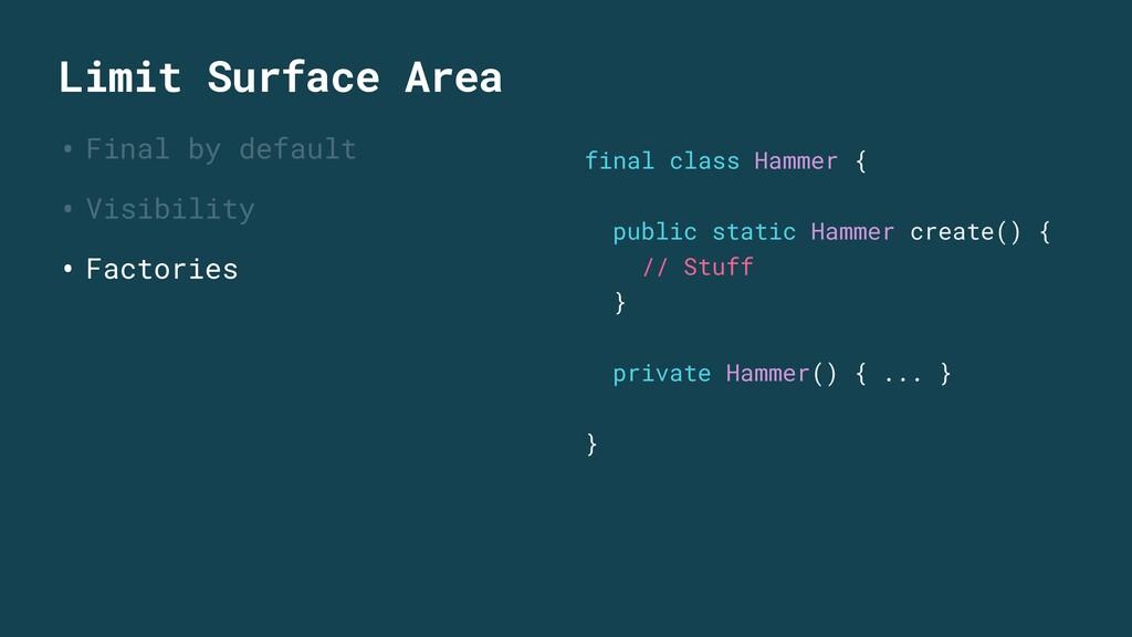 Limit Surface Area • Final by default • Visibil...