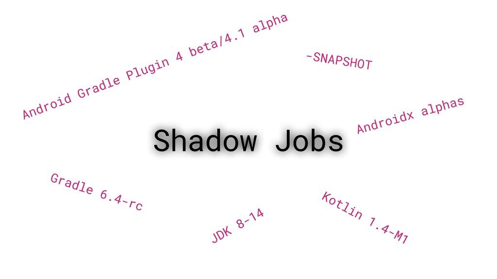 Shadow Jobs Android Gradle Plugin 4 beta/4.1 al...