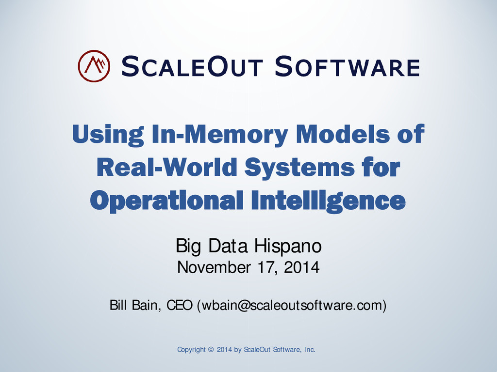 Using In-Memory Models of Real-World Systems fo...