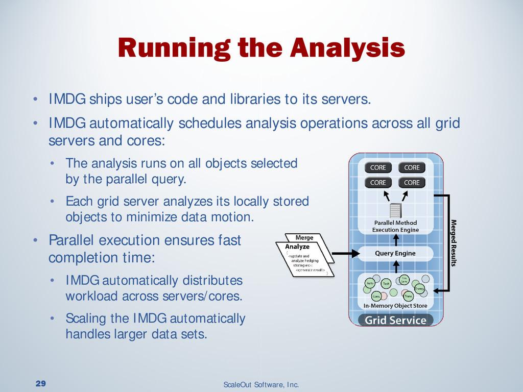 29 ScaleOut Software, Inc. • IMDG ships user's ...