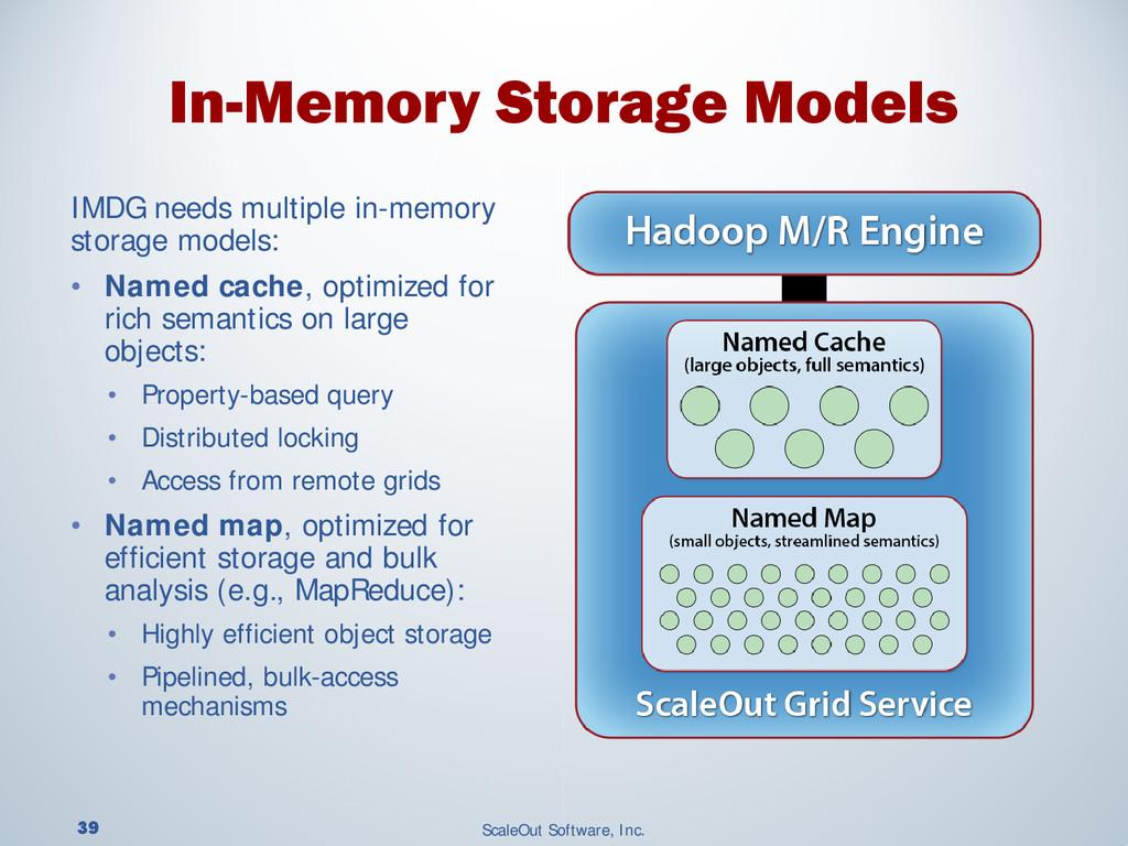39 ScaleOut Software, Inc. IMDG needs multiple ...