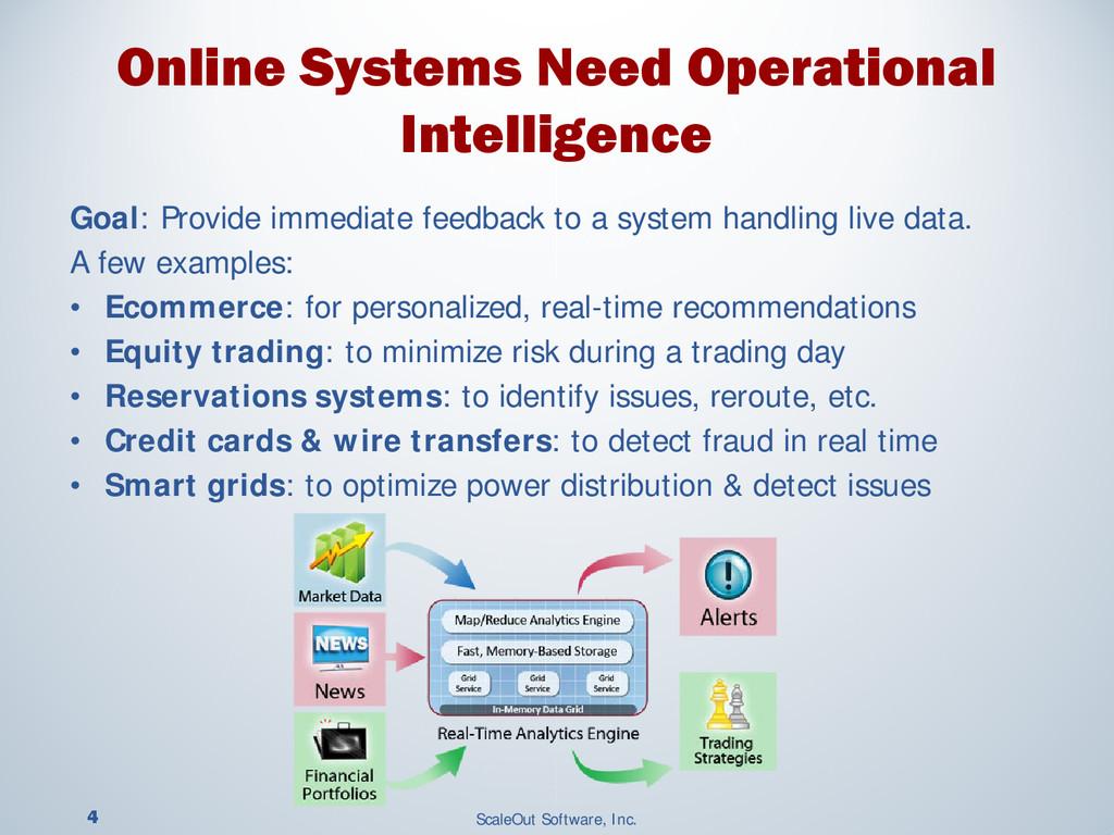 4 ScaleOut Software, Inc. Goal: Provide immedia...