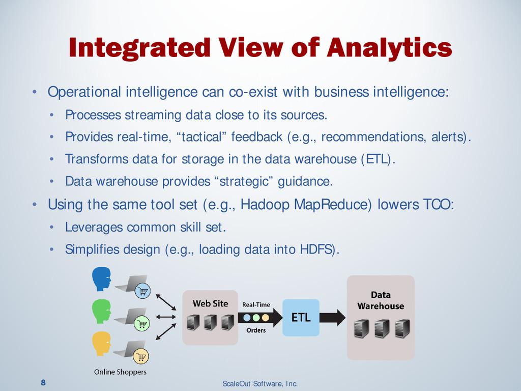 8 ScaleOut Software, Inc. • Operational intelli...