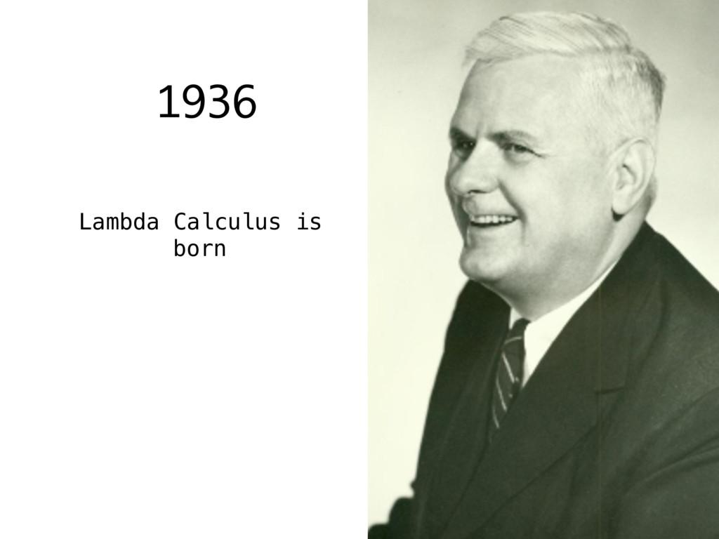 1936 Lambda Calculus is born