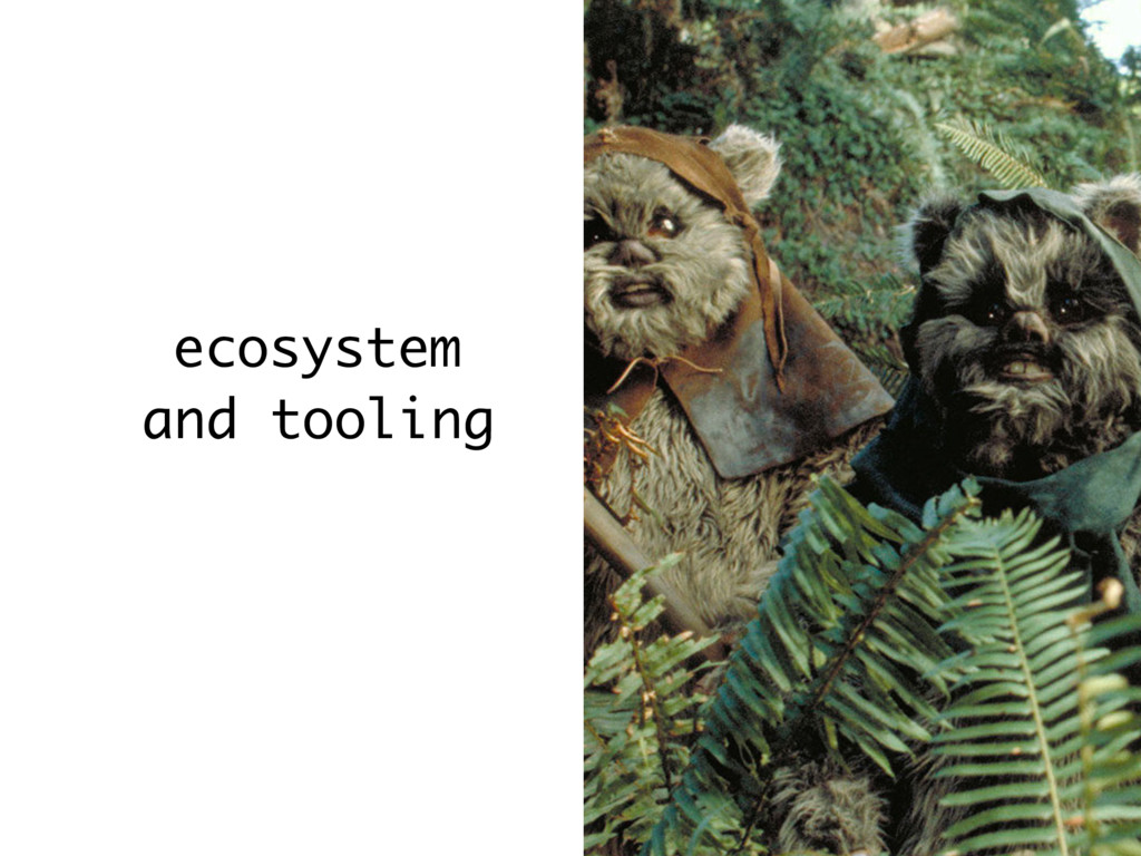 ecosystem and tooling