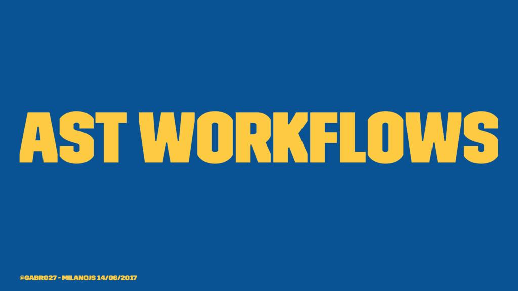 AST Workflows @gabro27 - MilanoJS 14/06/2017