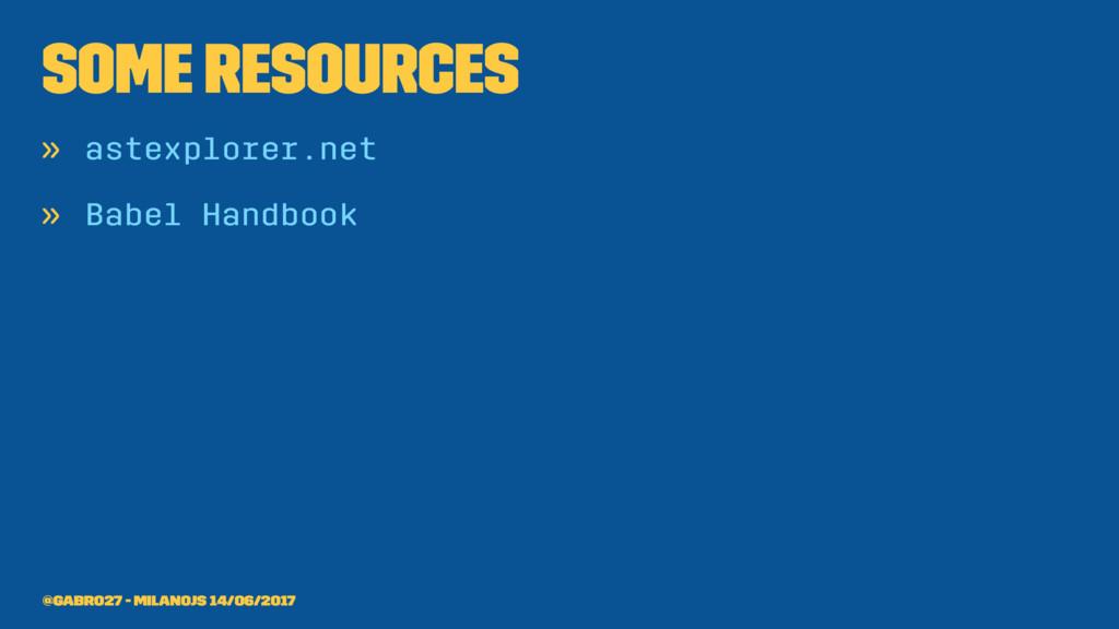 Some resources » astexplorer.net » Babel Handbo...