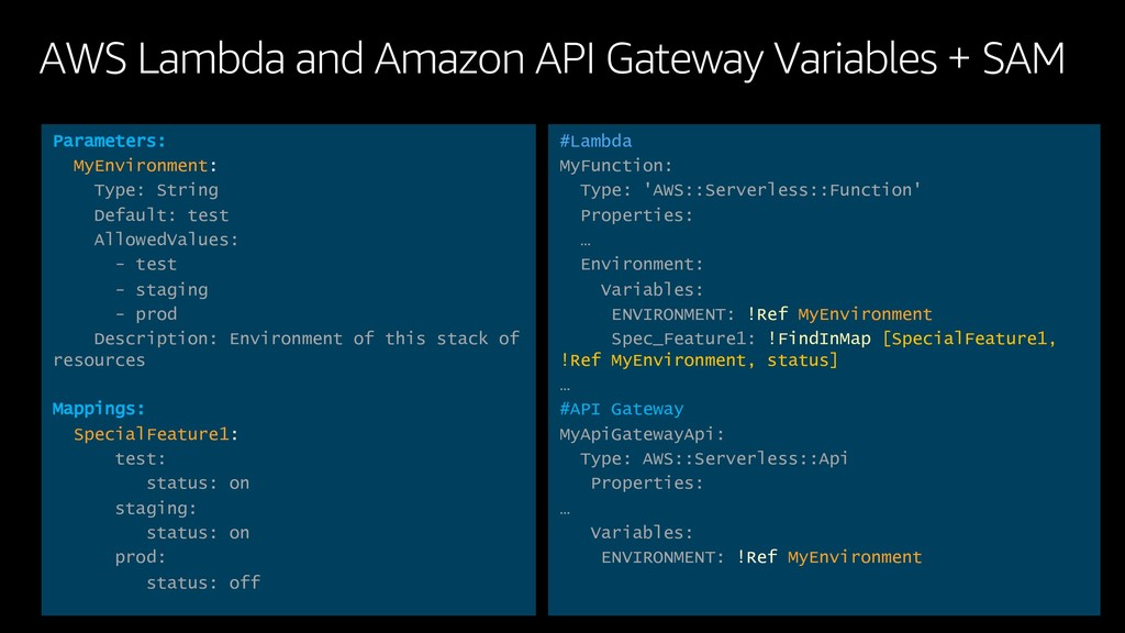 AWS Lambda and Amazon API Gateway Variables + S...
