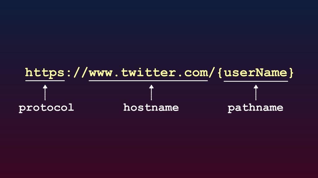 https://www.twitter.com/{userName} protocol hos...
