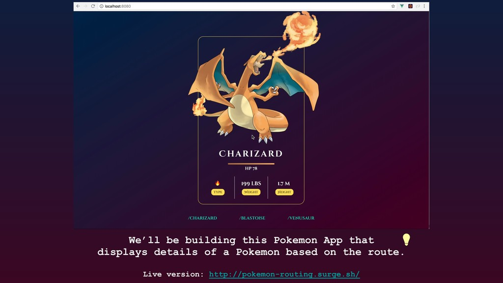 We'll be building this Pokemon App that display...