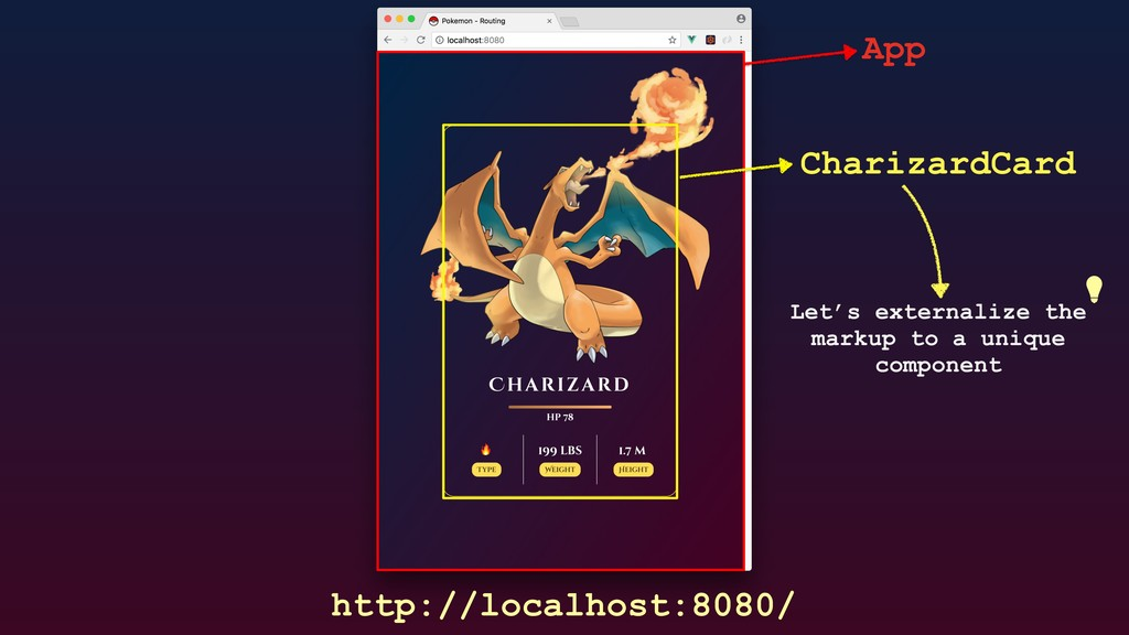 http://localhost:8080/ App CharizardCard Let's ...