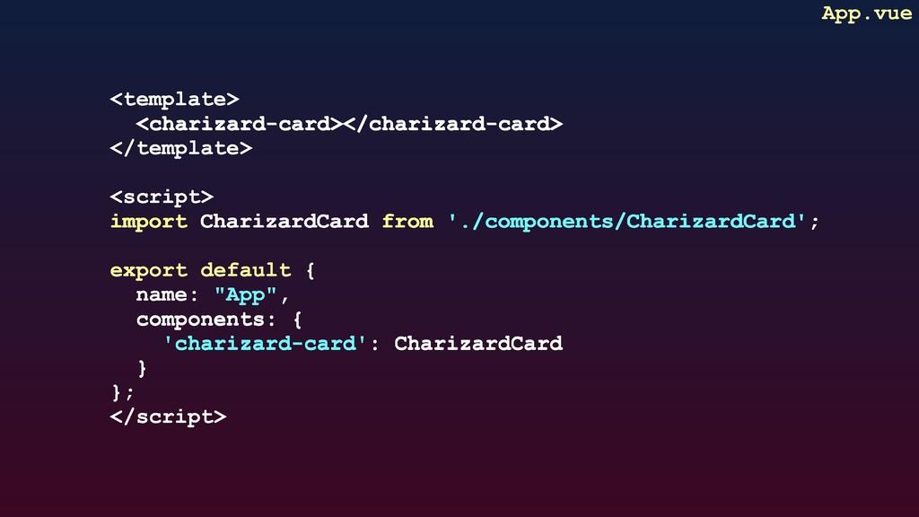 <template> <charizard-card></charizard-card> </...