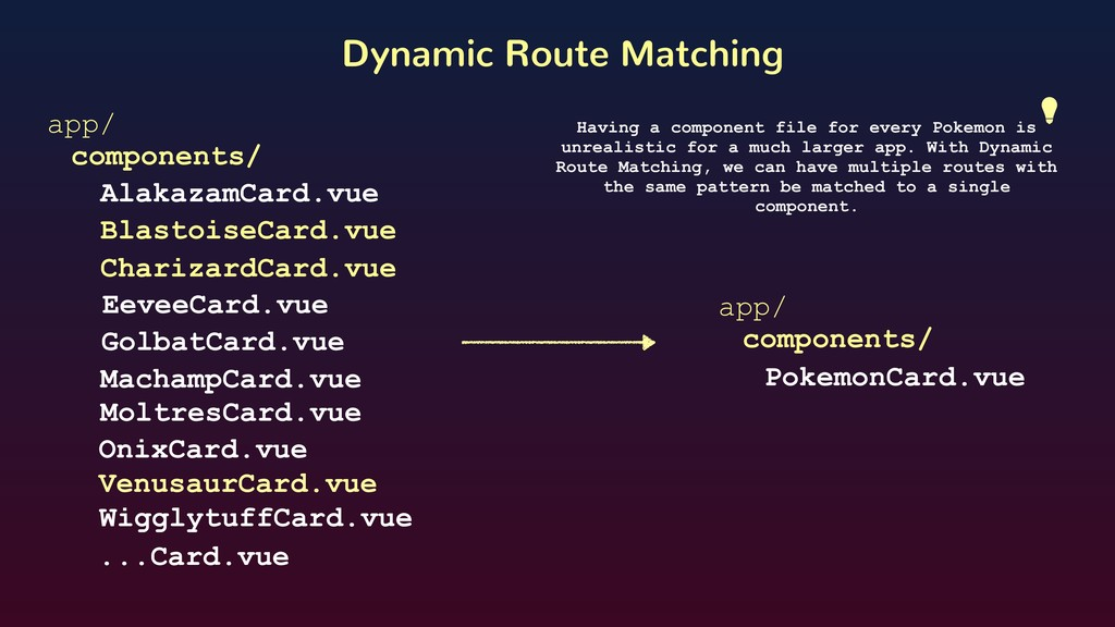 Dynamic Route Matching app/ components/ Blastoi...