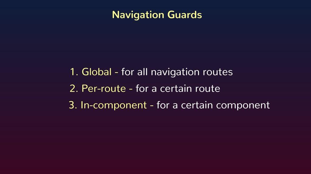 Navigation Guards 1. Global - for all navigatio...