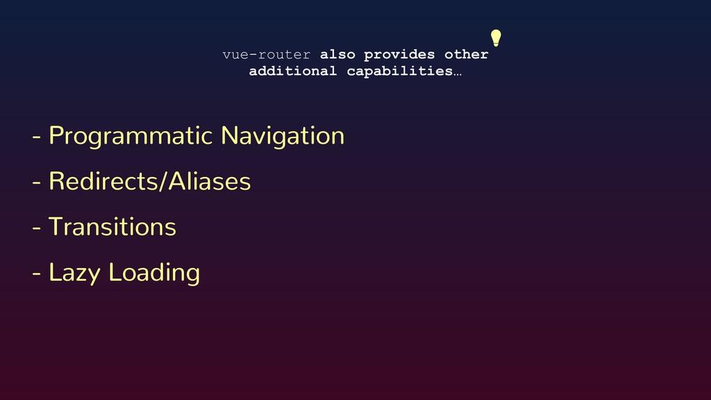 - Programmatic Navigation - Redirects/Aliases -...