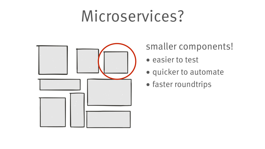 Microservices? smaller components! • easier to ...