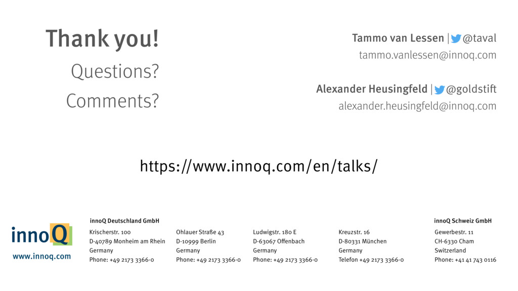 Tammo van Lessen | @taval tammo.vanlessen@innoq...