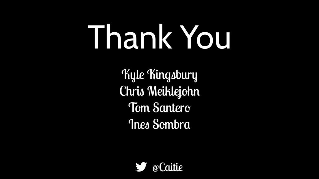 Thank You Kyle Kingsbury Chris Meiklejohn Tom S...