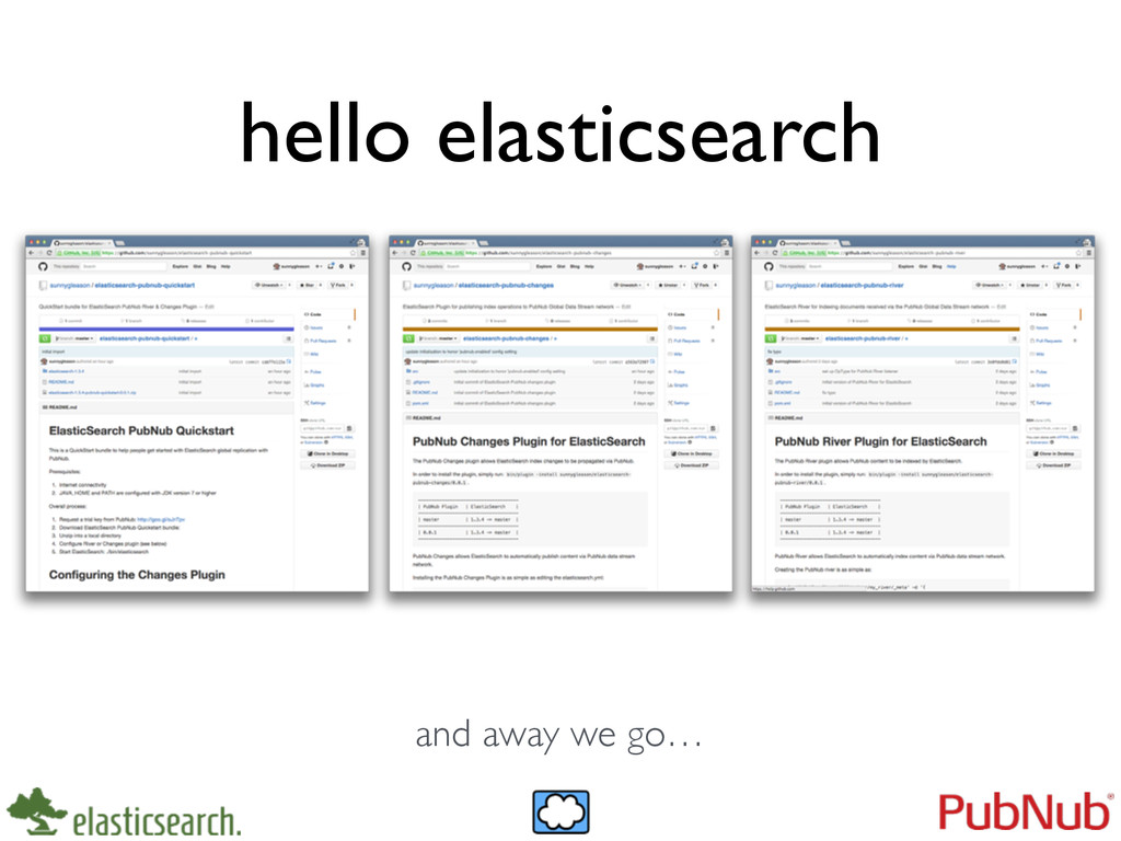 hello elasticsearch and away we go…