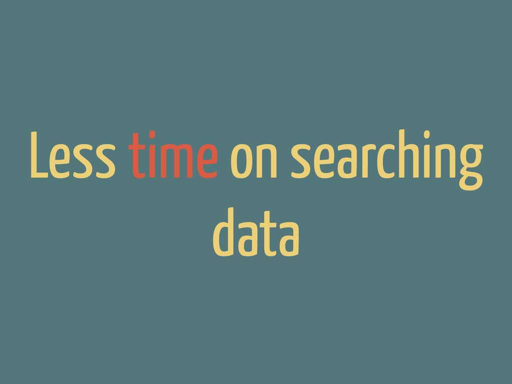Less time on searching data