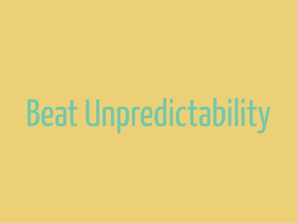 Beat Unpredictability