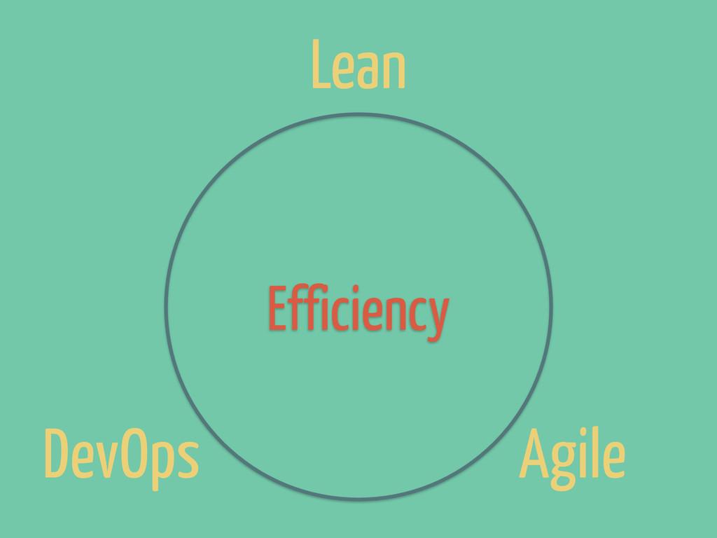 DevOps Lean Agile Efficiency