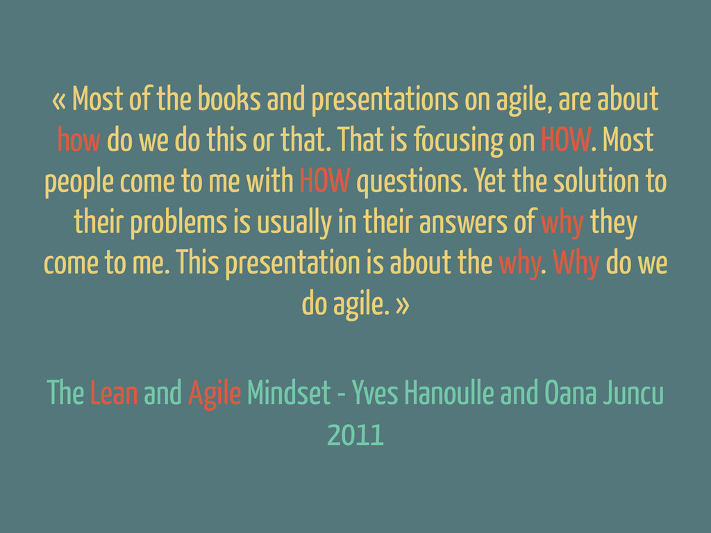 The Lean and Agile Mindset - Yves Hanoulle and ...