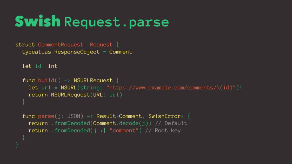 Swish Request.parse struct CommentRequest: Requ...