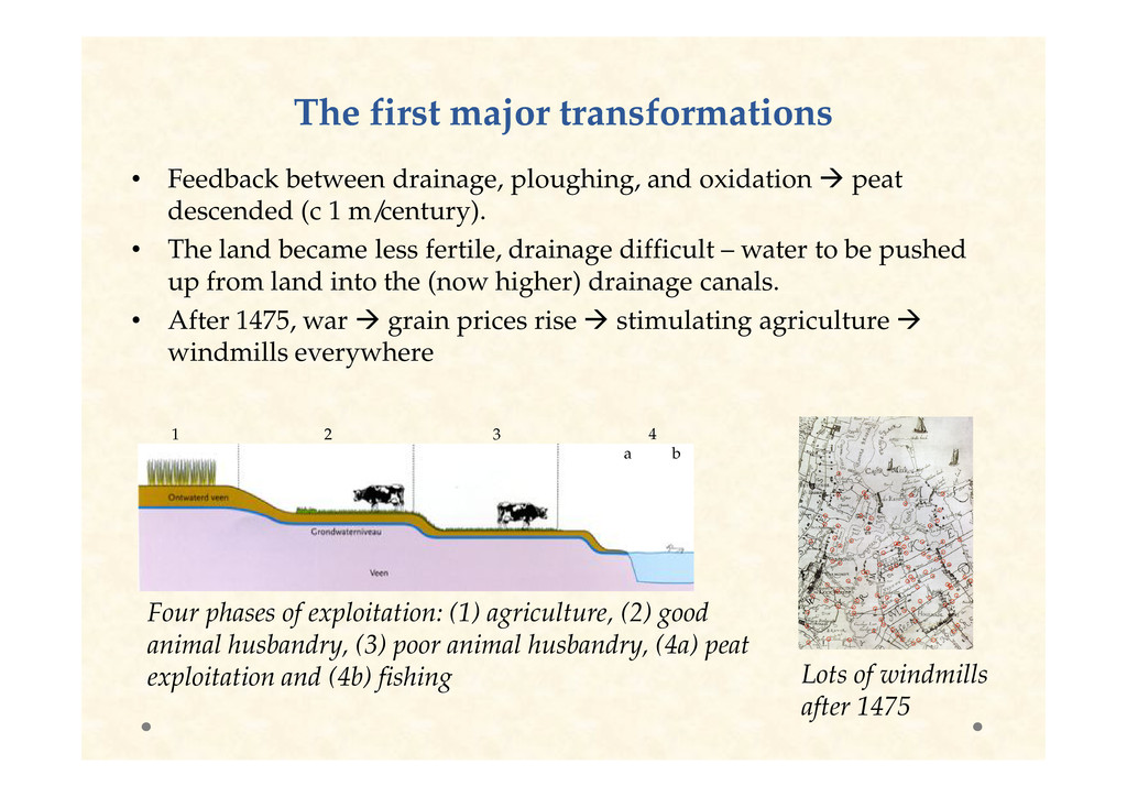 The first major transformations The first major...
