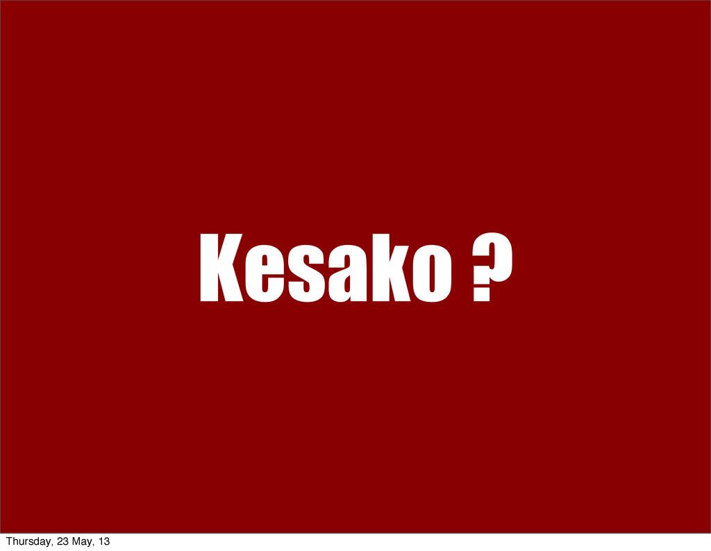 Kesako ? Thursday, 23 May, 13