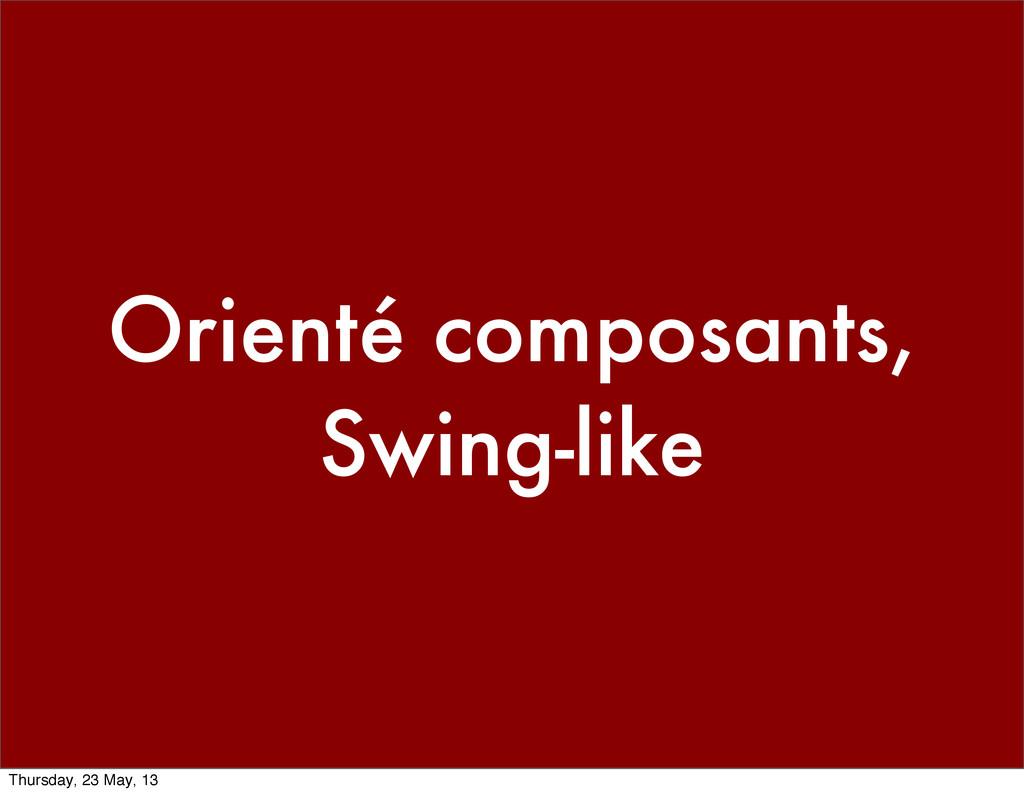 Orienté composants, Swing-like Thursday, 23 May...