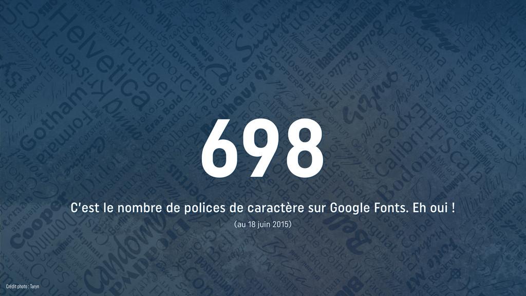 C'est le nombre de polices de caractère sur Goo...
